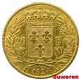 8.FRANCJA, LUDWIK XVIII, 20 FRANKÓW 1824 A