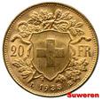 9.SZWAJCARIA, 20 FRANKÓW 1935 LB