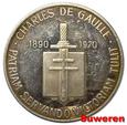 1.FRANCJA, MEDAL - CHARLES de GAULLE 1890-1970