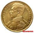 9.BELGIA, ALBERT I, 20 FRANKÓW 1914 DES