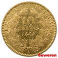 3.FRANCJA, NAPOLEON III, 10 FRANKÓW 1864 A