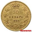 8.SERBIA, MILAN I, 10 DINARÓW 1882 V