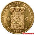 6.HOLANDIA, WILLEM III, 10 GULDENÓW 1877