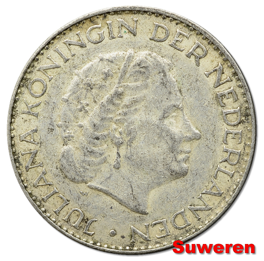 11.HOLANDIA, JULIANA, 1 GULDEN 1966