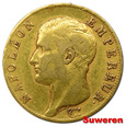 12.FRANCJA, NAPOLEON I, 40 FRANKÓW 1806 A