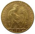 FRANCJA, 20 FRANKÓW 1910