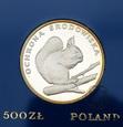 PRL, 500 złotych, 1985, Wiewiórka