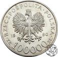 III RP, 100000 złotych, 1990 Solidarność A st. 2/3
