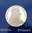 PRL, 500 złotych, 1986, Władysław I Łokietek
