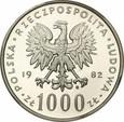 1000 ZŁ 1982 JAN PAWEŁ II PCGS MS69
