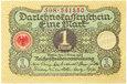 Niemcy - BANKNOT - 1 Marka 1920 - Stan UNC - Z PACZKI !