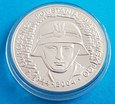 Srebrna moneta 10 zł 2004 r. - 60 rocznica Powstania Warszawskiego.