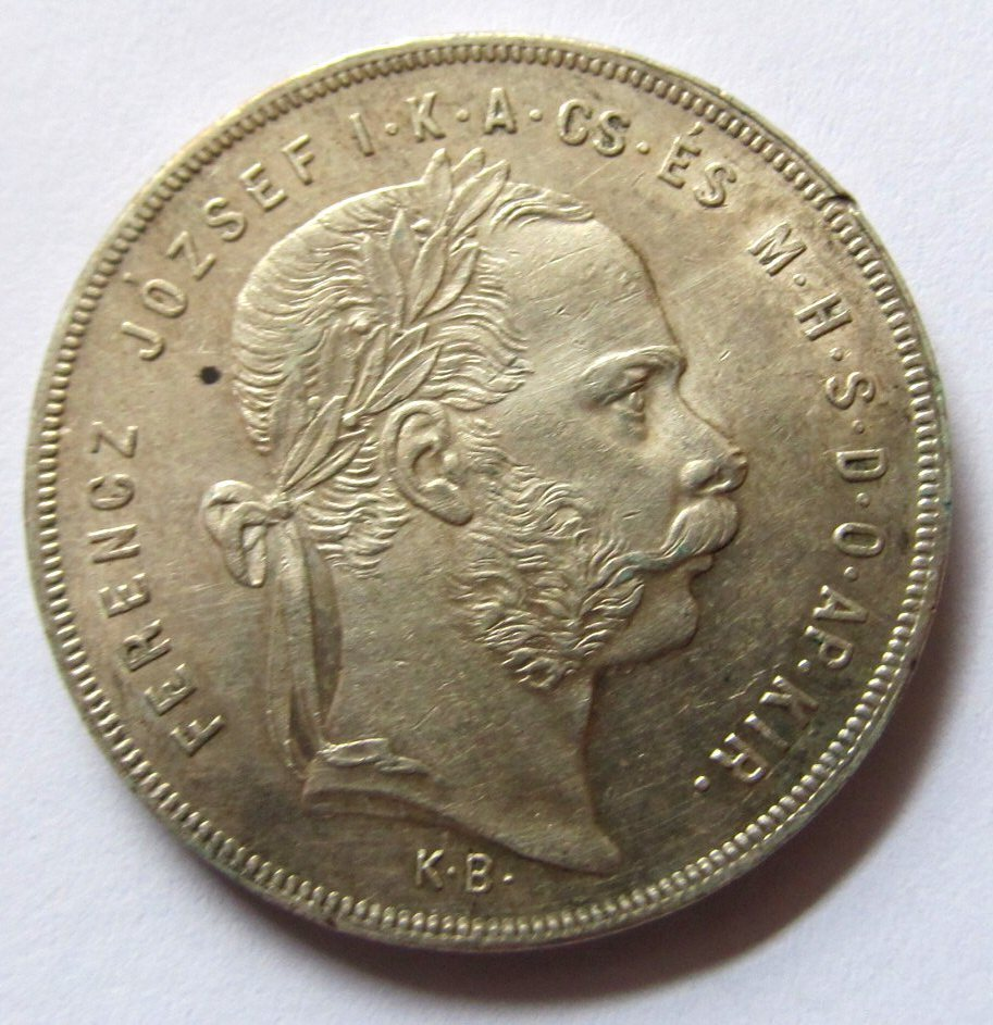F33284 WĘGRY 1 forint 1878