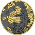 Austria - 1,50 euro 2019 Robin Hood golden ring.