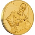 250 $ C - 3 PO STAR WARS ZŁOTO 1 Oz Au