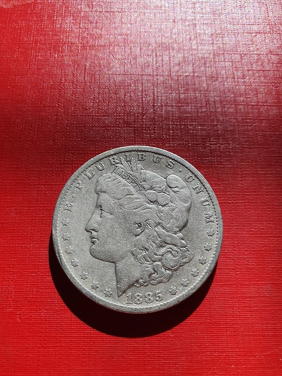 Dollar MORGAN 1885 Rok Literka O stan 3+