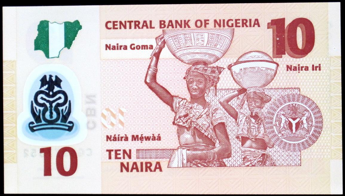 Nigeria 10 Naira 2017 Rok Stan Bankowy Unc