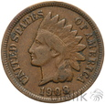 301. USA, 1 cent, 1908, Indianin